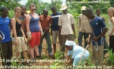 Visueel van project 10 jeunes. 10 micro-entrepreneurs.
