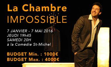 Project visual 7 Janvier 2016 : La Chambre impossible à la Comédie St-Michel à PARIS !