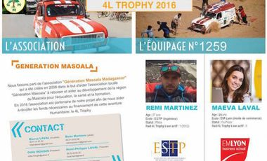 "Project visual Equipage 1259 ""4 ailes au vent"" - 4L Trophy 2016"