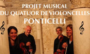 Visuel du projet Création inédite et exceptionnelle de J.S.Bach par le quatuor Ponticelli
