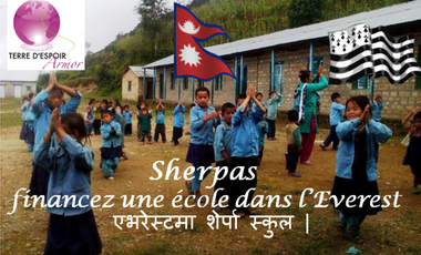 Project visual Sherpas, financez une école dans l'Everest