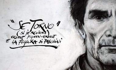 """Project visual """"Se torno"""" (Si je reviens) - Ernest Pignon-Ernest e la figura di Pasolini"""