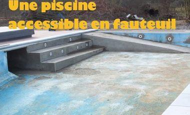 Visuel du projet Une piscine accessible en fauteuil pour le Domaine de la Loge