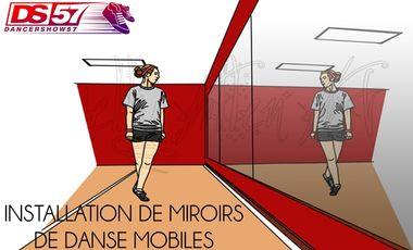 Visuel du projet INSTALLATION DE MIROIRS MOBILES POUR LES COURS DE DANSE DE DANCERSHOW57