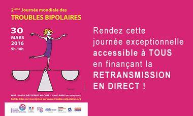 Project visual Retransmission de la 2ème Journée mondiale des troubles bipolaires !