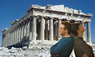Project visual Voyage au cœur de l'Antiquité, les étudiants guident les lycéens