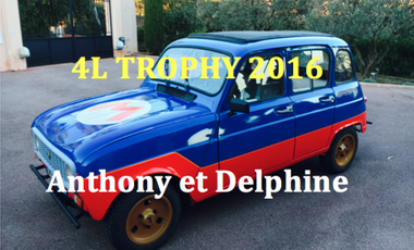 Visueel van project 4L Trophy 2016 - Anthony et Delphine
