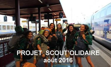 Project visual Projet scout'olidaire août 2016