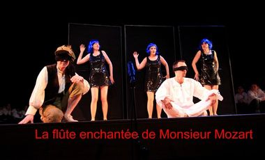 Project visual La flûte enchantée de Monsieur Mozart à Avignon