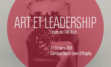 Visueel van project Art et Leadership. L'exposition événement à l'IAE Nice