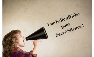 """Project visual Une belle affiche pour le spectacle """"Sacré Silence"""""""
