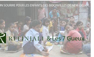 Project visual UN SOURIRE POUR LES ENFANTS DES BIDONVILLES DE NEW-DELHI