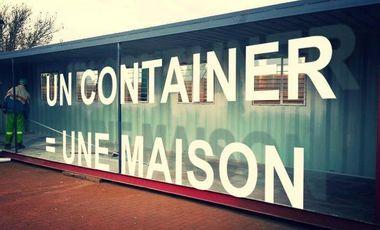 Visueel van project UN CONTAINER =  UNE MAISON
