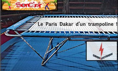 Project visual le Paris-Dakar d'un trampoline