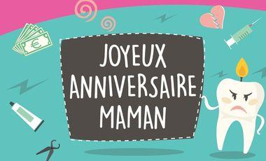 """Visueel van project """"Joyeux anniversaire maman ! On a qu'une maman, alors autant en rire !"""
