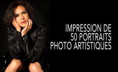 Visueel van project IMPRESSION DE 50 PORTRAITS PHOTO ARTISTIQUES