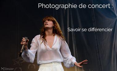 Project visual Photographie de concert, comment se différencier ?