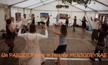 Visuel du projet Un plancher pour les 25 ans du festival Musiqueyras