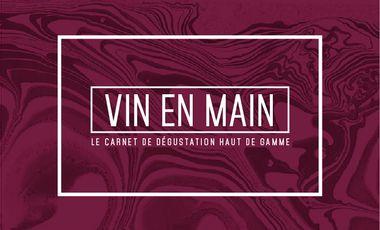 Visuel du projet VIN EN MAIN // Un carnet de dégustation haut de gamme
