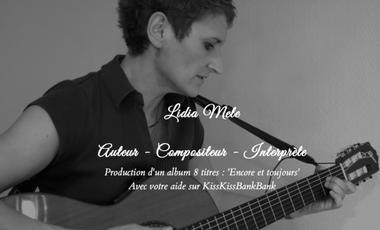 Visuel du projet Lidia Mele... 1er CD 'Encore et Toujours', grâce à vous !