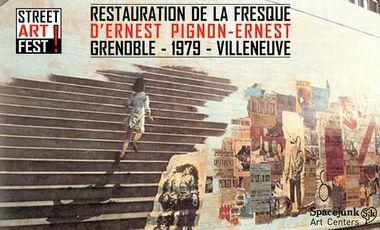Visueel van project Restauration de la fresque de 1979 d'Ernest Pignon-Ernest à la Bourse du Travail de Grenoble