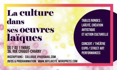 """Visueel van project L'ACEF et le M2 IPii présentent l'événement """"La Culture dans ses œuvres laïques"""""""