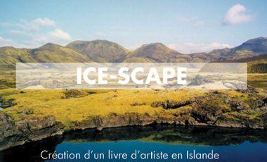 Visuel du projet ICE-SCAPE, le livre d'artiste en Islande