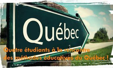 Visuel du projet Quatre étudiants à la rencontre des méthodes éducatives du Québec