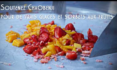 Project visual Soutenez Chaobenji, les glaces aux vrais fruits frais!