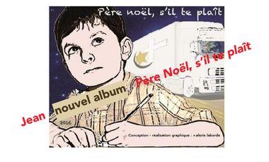 """Visueel van project Jean - nouvel album - """"Père Noël, s'il te plaît"""""""