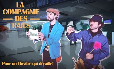 """Visueel van project """"On the Rail again"""", du théâtre dans les trains!"""