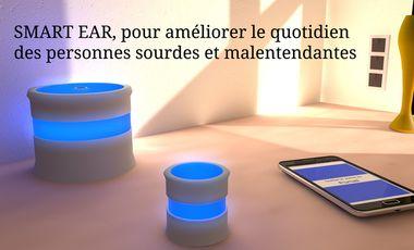 Visuel du projet SmartEar, pour améliorer le quotidien des personnes sourdes et malentendantes