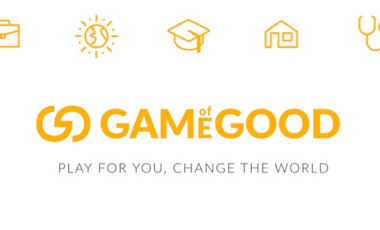 Visueel van project Game of Good  - Play for you, change the world