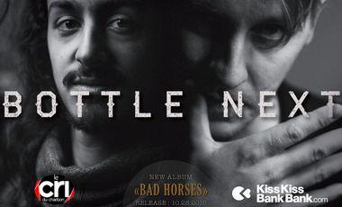 """Visueel van project Bottle Next : 1er album """"Bad Horses"""""""