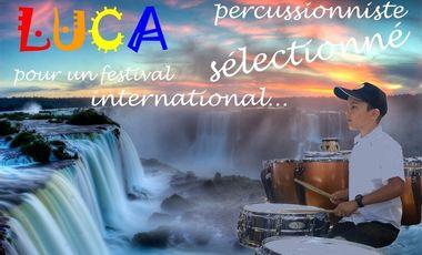 Visueel van project Luca, percussionniste, sélectionné pour un festival international...