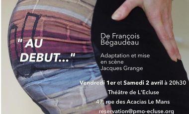 """Project visual Soutenez la création du spectacle """"AU DEBUT !"""