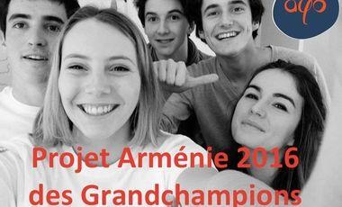Visueel van project Projet Arménie juillet 2016 pour les Grandchampions