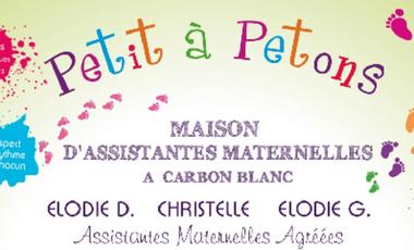 """Visuel du projet MAM """"Petit A Petons"""
