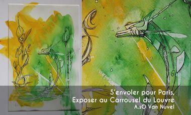 Visuel du projet S'envoler pour Paris, exposer au Carrousel du Louvre !