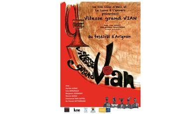 """Project visual Emmenez """"Vitesse grand V(ian)"""" au festival d'Avignon"""