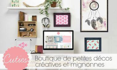 Visuel du projet Cuties, Boutique de petites décos créatives et mignonnes