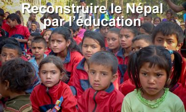 Project visual Reconstruire le Népal par l'éducation