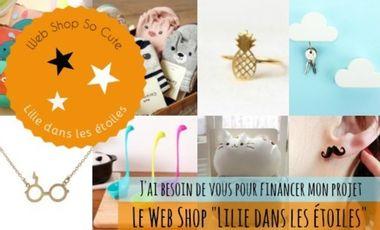"""Project visual """"Lilie dans les étoiles"""" Web shop so cute"""