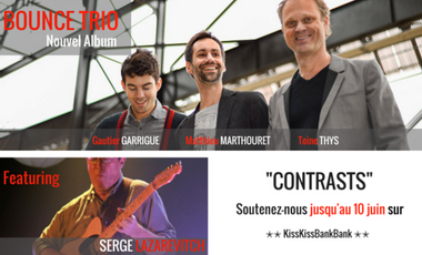 "Visueel van project BOUNCE TRIO Featuring Serge Lazarevitch ""CONTRASTS"""