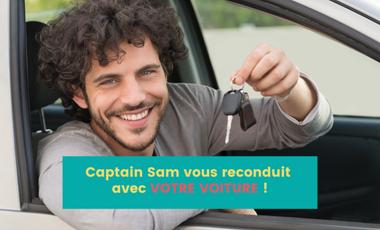 Project visual Captain Sam vous reconduit avec VOTRE VOITURE