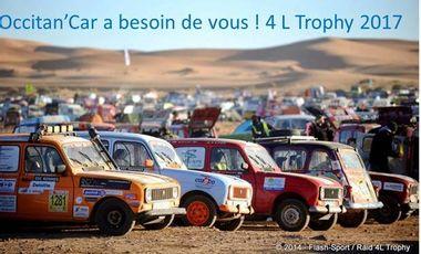Visuel du projet 4 L Trophy 2017 - Occitan'Car - Maxime & Lola - Equipage 914