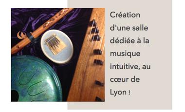Project visual Création d'une salle dédiée à la musique intuitive, au coeur de Lyon!