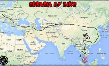 Visueel van project Eurasia by bike - 2roues/2continents