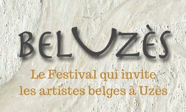 Visueel van project BelUzès Le festival qui invite les artistes belges à Uzès.