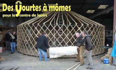 """Visuel du projet """"Des yourtes à mômes"""" pour le Centre de loisirs"""